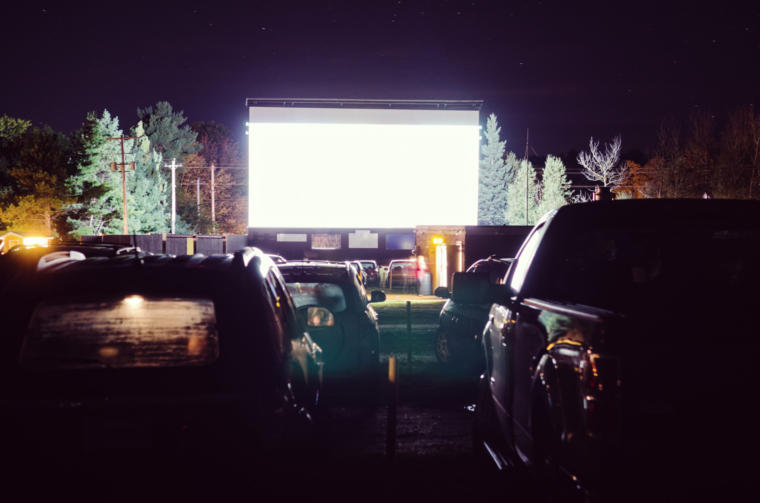 cars at the drive-in theater near Kingstowne